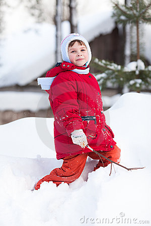 Kid on the snow