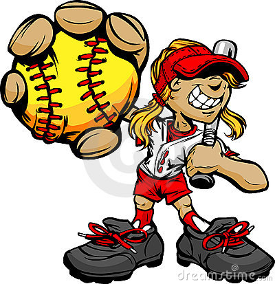 Free Kid Softball Player Holding Baseball And Bat Royalty Free Stock Photography - 23288207