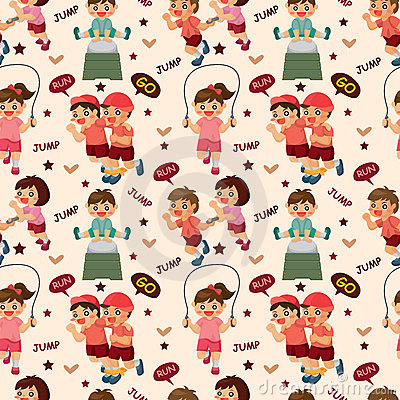 Kid sport seamless pattern