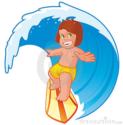 Kid surfer
