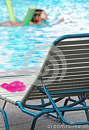 Kid Swimming In Pool Stock Image Image 5665971