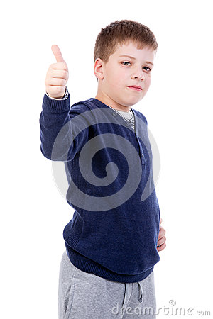 Kid thumb up