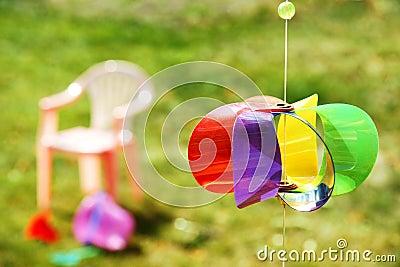 Kid toys in the backyard