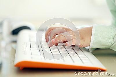 Kid typing