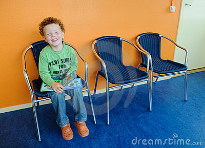 Kid in waiting room