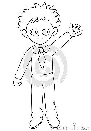 Kid waving