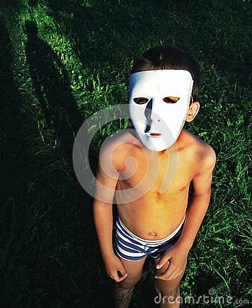 Kid wearing mask