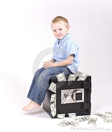 Free Kid With Money Royalty Free Stock Images - 7604709