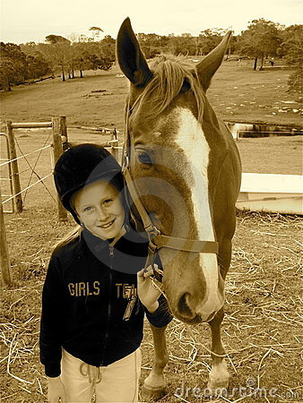 Free Kid With Pony Stock Photo - 7217670