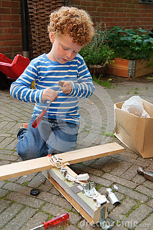 Free Kid With Tools Stock Photo - 29067810