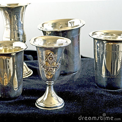 Kiddish cups square