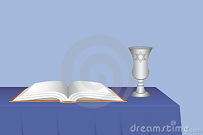 Kiddush Cup with Open Prayer Book