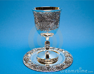 Kiddush Whine Cup and Saucer