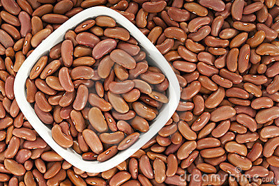 Kidney beans or red beans background