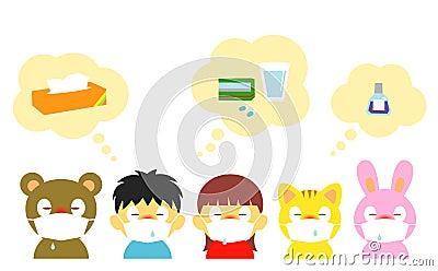 Kids, allergy, cold, mask