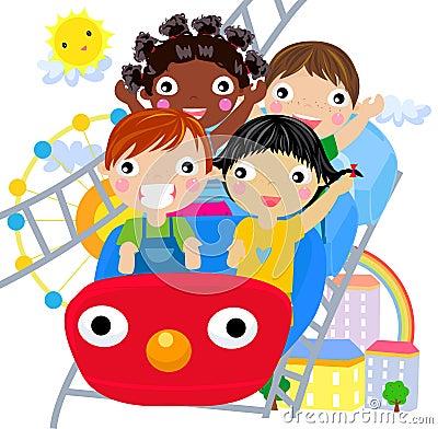 Kids at the Amusement Park