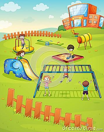 Free Kids And Monkey Bar Stock Image - 28427491