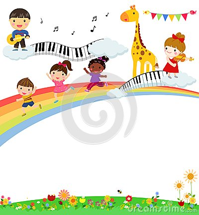 Free Kids And Music Stock Photos - 105510353