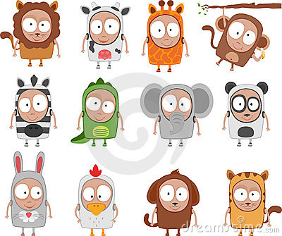 Kids animal costumes