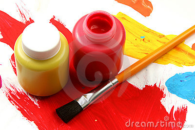 Kids artistic expressions-red and yellow