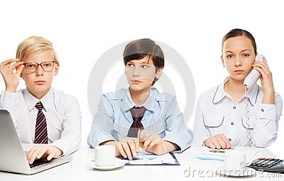 Kids as adults businessman