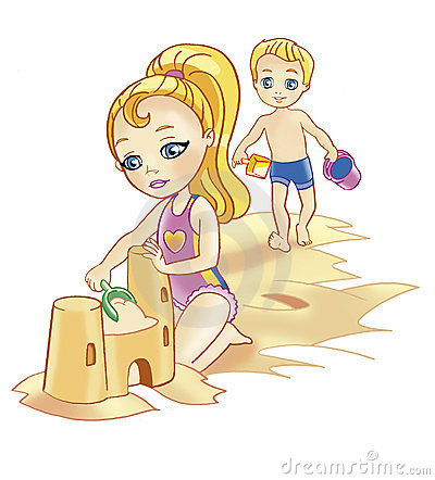 Kids Playing On Beach Clipart Kids and beachKids Playing On The Beach Clipart