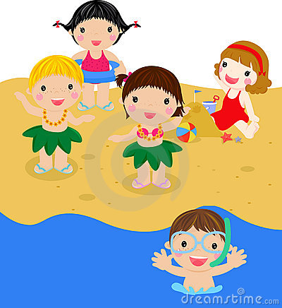 Kids on beach