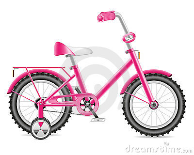 Kids bicycle for a girl  illustration