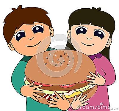 Kids big burger