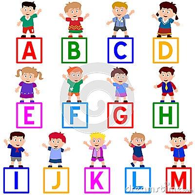 Free Kids & Blocks [A-M] Royalty Free Stock Image - 5457526