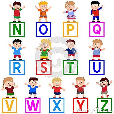 Free Kids & Blocks [N-Z] Royalty Free Stock Image - 5457546