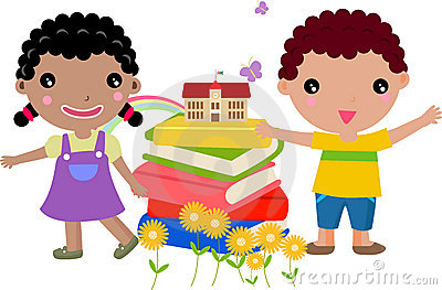 Kids and book