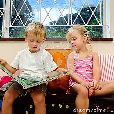 Kids book at playschool