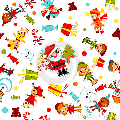 Kids Christmas wallpaper.