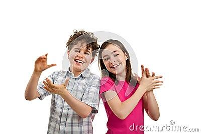 Children ApplaudingAudience Of Children Clapping