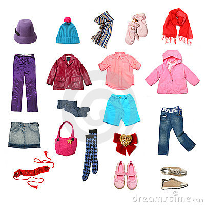 Free Kids Clothes Set Stock Images - 11847554