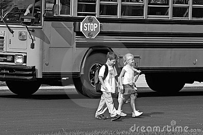 Kids Crossing the Street