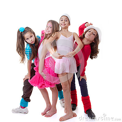 Free Kids Dance School Royalty Free Stock Images - 29254739