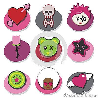 Kids emo icons