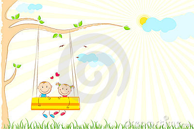 Kids enjoying Swing Ride