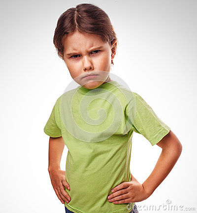 Free Kids Evil Angry Girl Shows Fists Experiencing Stock Image - 38339811