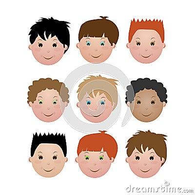 Kids face - boy