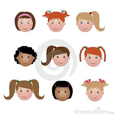Kids face - girl