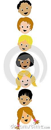 Kids Faces Vertical/ai
