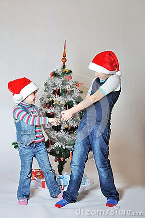Kids fight on Christmas