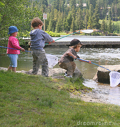 Free Kids Fishing Stock Image - 1069271