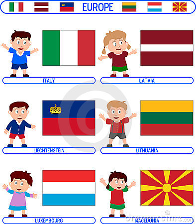 Kids & Flags - Europe [4]