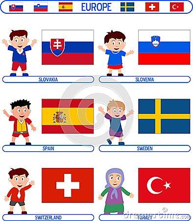 Kids & Flags - Europe [7]