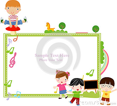 Kids and frame