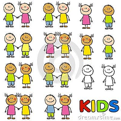 Free Kids Friendship Diversity Stock Photo - 5894510